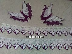 This Pin was discovered by HUZ Crochet Butterfly, Butterfly Flowers, Baby Knitting Patterns, Filet Crochet, Crochet Doilies, Lace Making, Crochet Designs, Elsa, Diy And Crafts