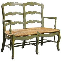 I pinned this French Country Settee in Green from the Furniture Classics event at Joss and Main!
