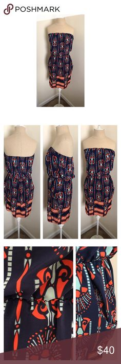 "⭐️ Bubbles tube dress size S Like new Bubbles tube dress size small. Dress has elastic at chest and waist and two front pockets. Super cute! From tube top to waist 10"", and from waist to hem 19"". Bubbles Dresses Strapless"