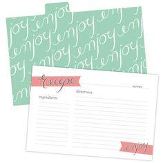 Lynn + Lou: Printable Recipe Cards + Dividers