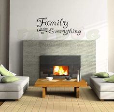Family is the Key to Everything Removable Decal  Livingroom