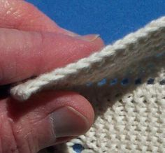 Method to create a neat selvage edge.