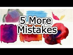 Watercolor Tips to Improve Paintings - 5 Beginner Mistakes by Kelly Eddington Watercolors - Drawing Technique Watercolor Beginner, Watercolor Video, Watercolour Tutorials, Watercolor Techniques, Watercolour Painting, Painting Techniques, Painting & Drawing, Beginner Painting, Painting Videos