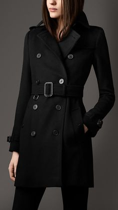 Mid-Length Wool Cashmere Trench Coat | Burberry