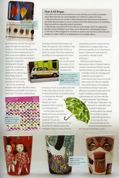 Art & Design Licensing Source Book June edition, Africa Leaves and Pebbles trays, Travel journal, Sunlight Through Leaves umbrella, Sweetie Love calendar for Patterns, beakers for Tate Enterprise by Ella Doran