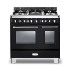 Verona 36 Inch Classic Dual Fuel Range with cu. Ovens, European Convection, 5 Sealed Gas Burners, Cast-Iron Grates, EZ Clean Oven Surface and Storage Compartment in Matte Black Verona Range, Ranger, Double Oven Range, Timer Clock, Fireplace Accessories, Classic Series, Small Appliances, Kitchen Appliances, Storage Drawers