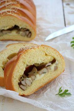 Treccia funghi porcini e asiago. Un estasi di sapori che riempie il cuore di questo pan brioche salato intrecciato. Perfetto per molteplici occasioni.