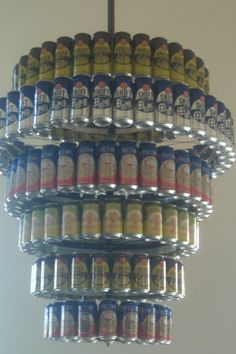 Beer Chandelier at New Belgium Brewery
