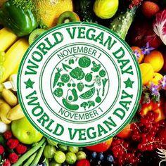 1 Νοεμβρίου - Παγκόσμια Ημέρα Αυστηρής Χορτοφαγίας. Δες: https://goo.gl/UP8TQs 😄🌍🥗 #WorldVeganDay #Vegan #BetterMeEU