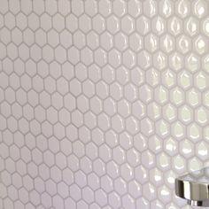 "Smart Tiles Mosaik Hexago 11.27"" x 9.63"" Peel & Stick Mosaic Tile in White"