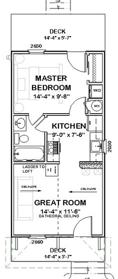 AFFORDABLE HOUSE TINY Home Blueprints Plans 1 bedroom Cottage Cabin 720 sf PDF is part of Dream home Blueprints - Exchange PolicyWe do not refund or exchange PDF files as they are electronic files and too easily copied Plan Tiny House, Small Tiny House, Tiny House Living, Tiny House Design, Small House Plans, Small Houses, The Plan, How To Plan, Cabin Floor Plans