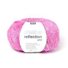 Creative Reflection Print | Rico Design, 50 g - hot pink - stoffe.de