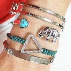 Set By Vila Veloni Silver Elephant Madness Bracelets