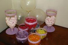 Recipientes de plastico para mesas de dulces de niños!