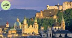 Magnificent view of #Kollegienkirche and cathedral domes of #Salzburg, #Austria.  #TravelLeaders #TravelBetter #Europe
