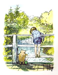 E.H. Shepard Winnie the Pooh illustration.