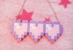 Pastel Pixel Heart Meter necklace by MagicalTeaTime on Etsy https://www.etsy.com/listing/196304653/pastel-pixel-heart-meter-necklace