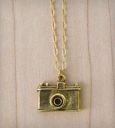Camera Necklace - Gold | Women's Jewelry | Muses & Rebels | Scoutmob Shoppe | Product Detail