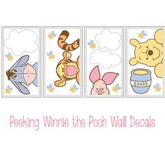 Adorable Disney Character Nursery Finds for Little Girls   DisneyBaby.com: Peeking Winnie the Pooh Wall Decals