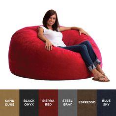 Comfort Research FufSack King Memory Foam Microfiber Bean Bag Chair Blue Sky Size Extra Large