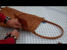 Making a leather carry all briefcase and or purse