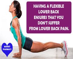 HAVING A FLEXIBLE LOWER BACK ENSURES THAT YOU DON'T SUFFER FROM LOWER BACK PAIN #healthyliving #lowerback #health