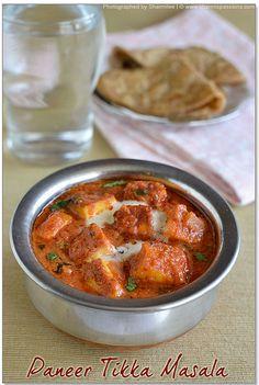 Sharmis Passions: Paneer Tikka Masala and Paneer Tikka Recipe(Stove-top method) | Paneer Recipes