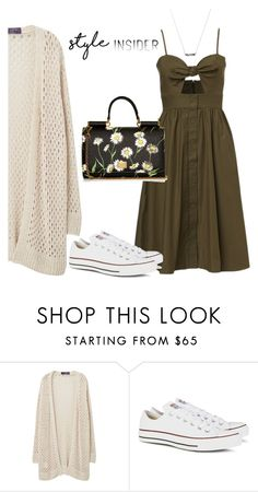 """Cardigans"" by sara12alexandra ❤ liked on Polyvore featuring Violeta by Mango, Converse and Dolce&Gabbana"