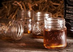 {BAD vendor image} Mason Jar Shot Glasses- Toast to a shot of whisky? Or use as favors?