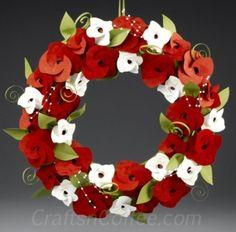 Make a Paper Roses Christmas Wreath by timea.brusznyai.5