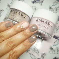 Kiara Sky Dip Powder in colors Country Chic D512 and Petal Dust D557 ❤ with KUPA matte top coat it's my favorite! Country Chic is one of my top 5 favorite dip powder colors it's a beautiful sandy power with the smallest bits of sparkle. Paired with this shabby chic dusty pink shady it's perfection!