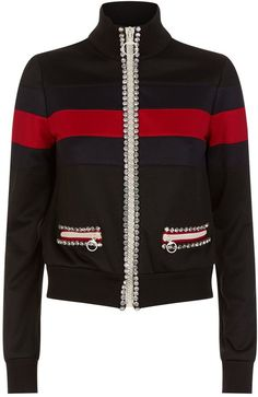 Gucci Embellished Web Stripe Bomber Jacket  #ShopStyle #MyShopstyle #fallfashion #wearitloveit # Women bomber jacket #quilted #wool #leather #fleece # camouflage # Faux-fur  click for more information or to purchase the item