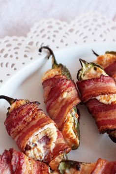 Bacon Wrapped and Stuffed Jalapenos
