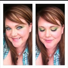 I never do green make-up but since it's st. Patricks day, image an exception & BAM what do ya know? I can pull it off!