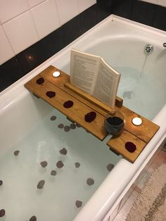Wooden Bath Caddy   Wooden Bath Tray   Wooden Bath Board   Book Stand    Wine Glass Holder   Relaxation Wooden Bath Board   Bath Rack   Rustic Home U2026