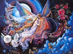 Eros and Psyche art by Josephine Wall