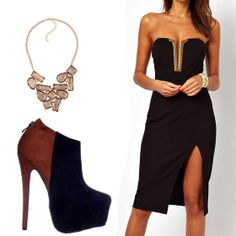 Do you like this? Weekend Outfit, Elegant Outfit, Strapless Dress, Kicks, Fashion Outfits, Sexy, Coffee, Dresses, Style