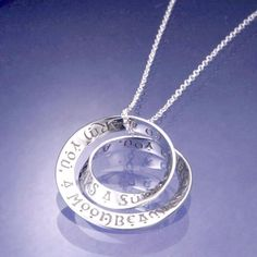 af1366d80 Irish Blessing Sterling Silver Double Mobius Twist Necklace Irish Jewelry,  Irish Necklaces, Claddagh Rings