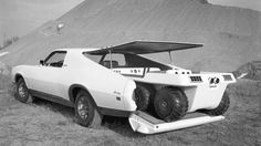"""""""Mercury Montego Sportshauler Concept Car, Mercury's Montego-based Sportshauler concept vehicle was a huge attraction during the 1971 Chicago Auto Show. The Montego Sportshauler was reconfigured to carried two-passengers and their all-terrain vehicles. Weird Cars, Cool Cars, Strange Cars, Monocycle, Mercury Montego, Edsel Ford, Mercury Cars, Terrain Vehicle, Unique Cars"""