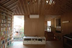 Biblioteca Ikushima, no bairro de Kokubunji, em Tokio, Japão. Design e fotografia: Atelier Bow-Wow.