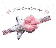 Girl's Mermaid Headband * Starfish Headband * Pink White * Flower Headband * Multi-Color * Cake Smash * Toddler Girls * Zara's Baby Boutique by ZarasBabyBoutique on Etsy