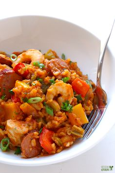 Jambalaya | You'll love a one pot meal like this. It looks really tasty! #Homemaderecipes