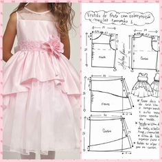 Dress Anak, Sewing Patterns Girls, Crochet Baby Clothes, Crayons, Doll Clothes, Kids Outfits, Girls Dresses, Children, Kids Fashion