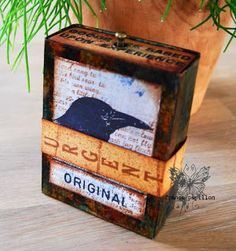 The Artistic Stamper Creative Team Blog: Urgent! by france papillon: from a bag to an atc box