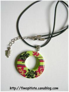 Bijoux pate fimo collier bracelet boucles d oreilles (139)