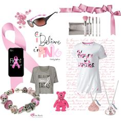 Breast Cancer Awareness Set, created by generousgems.polyvore.com
