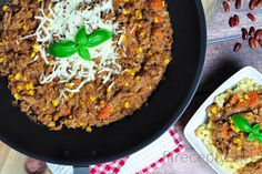 Mexické chilli | fitrecepty.sk Fried Rice, Tofu, Chili, Fries, Food And Drink, Beef, Ethnic Recipes, Fitness, Rezepte