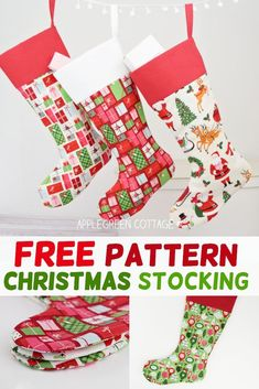Christmas stocking pattern - Who else is getting ready for #christmasinjuly?! Use my new Christmas stocking pattern (get it for free, hint hint ;) to get a jump start on holiday sewing. Easy sewing project, reusable, reversible stocking pattern, easy sewing pattern with the no-fold cuff, making sure you use the least fabric you need for a polished look. Click through to get your free pattern! #christmasstockingpattern  #christmassewing #freepattern #diychristmasdecor
