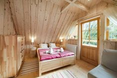 Beautiful handmade small log cabin by The Little Log House Company Little Log Cabin, Small Log Cabin, Log Cabin Builders, Mini Chalet, Timber Walls, Upstairs Bedroom, Lodge Style, Tiny House Design, Log Homes