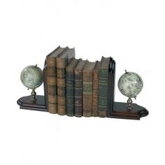 With one eye to the sky, the other to the land and sea, the mapmakers of the Old World designed globes portraying the celestial and the terrestrial. Map Globe, Classical Art, Book Themes, Globes, Constellations, Old World, Bookends, Old Things, Display